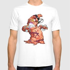 The Angry Appendix White Mens Fitted Tee SMALL