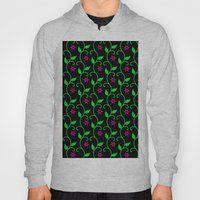 Pink Flowers And Green V… Hoody