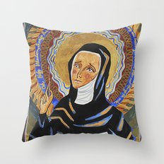 St. Hildegard of Bingen Throw Pillow