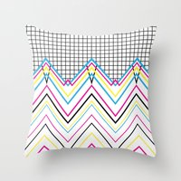 80's Chevy Grid Throw Pillow