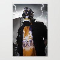 Air Jordan 1 Gas Mask Canvas Print