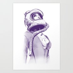 Space Woman Art Print