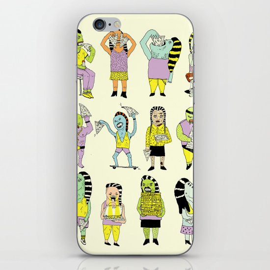 KIDS AND PIZZA iPhone & iPod Skin