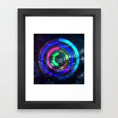 Vivid techno Framed Art Print