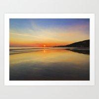 Dawn colours Art Print