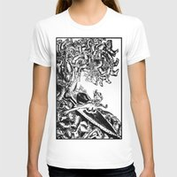 Surfing on Childhood Womens Fitted Tee White SMALL