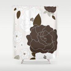 Soft Pastel Floral Print Shower Curtain