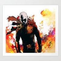 Onepunch Man Art Print