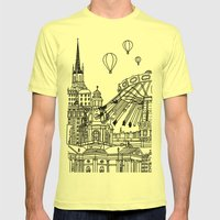 STHLM Silhouettes II Mens Fitted Tee Lemon SMALL