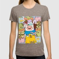 Adventure Time Womens Fitted Tee Tri-Coffee SMALL