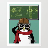 Little Penguin, Big Plan… Art Print