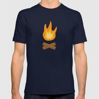 Fire Mens Fitted Tee Navy SMALL