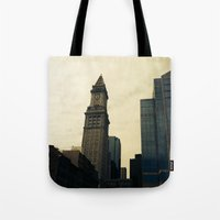 Boston Clocktower Tote Bag