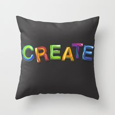 Create! Throw Pillow