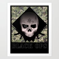 Black Ops Design Art Print