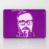 Hello World - This is a portrait of Dennis Ritchie  iPad Case