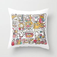 The Mayan Message Throw Pillow