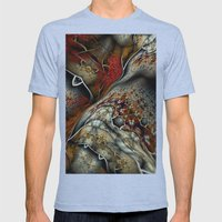 Glynnia Fractal Art Mens Fitted Tee Athletic Blue SMALL