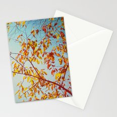 textured leaves. Stationery Cards