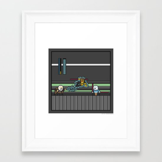 Mega Boss Battles - Dooku vs. Asajj & Savage Framed Art Print