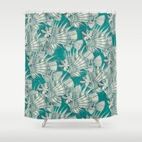 Fish Mirage Teal Shower Curtain