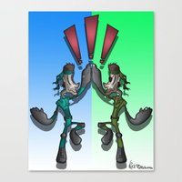 Super Snake Bros Canvas Print