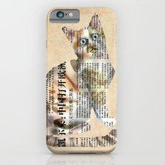 Cat Newspaper Collage Slim Case iPhone 6s
