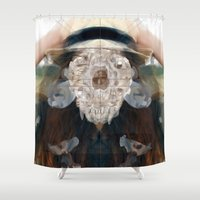 Birth//Death//Rebirth Shower Curtain