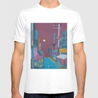 Seoul City #2 Mens Fitted Tee White SMALL