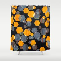 Construct Hex V3 Shower Curtain
