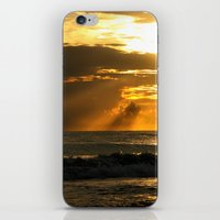 Golden Beach Sunset iPhone & iPod Skin