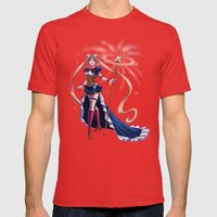Steampunk Pretty Soldier Mens Fitted Tee Red SMALL