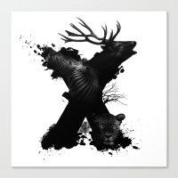 X ANIMALS Canvas Print