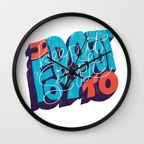 I Forgot to Keep it Simple Wall Clock