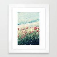 Sea Of Poppies Framed Art Print