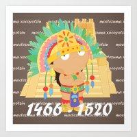 Moctezuma Xocoyotzin Art Print