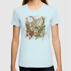 Majestic Tree Womens Fitted Tee Light Blue SMALL