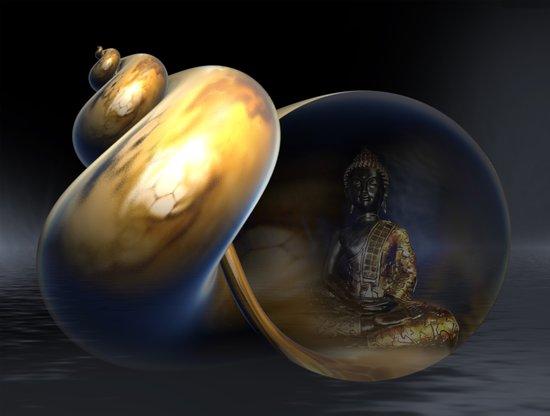 Buddha in Silence 2 Art Print