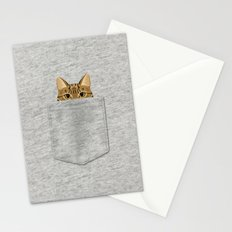 Pocket Tabby Cat Stationery Cards