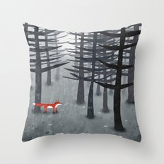The Fox And The Forest Throw Pillow