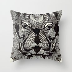 Tiger by Mieke Kristine Throw Pillow