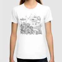 Elbow Womens Fitted Tee White SMALL