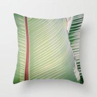 Sage + Red Throw Pillow