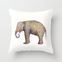 elephant color Throw Pillow