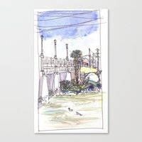 Ducks in the River Canvas Print