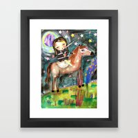 Riding A Horse Framed Art Print