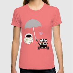 true love.. walle and eve  Womens Fitted Tee Pomegranate SMALL