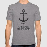 Where The Anchor Drops Mens Fitted Tee Athletic Grey SMALL