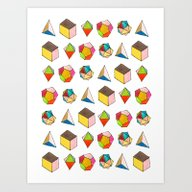 Art Print featuring Platonic Solids by June Chang Studio