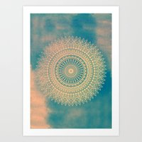 GOLDEN SUN MANDALA Art Print